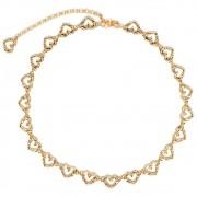 Corrente de Metal Dourado Coração - Cintos Exclusivos VC- Feminino