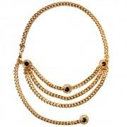 Corrente Dourada com Aplicações- Cintos Exclusivos - Feminino