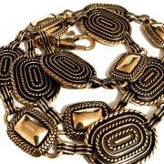 Corrente Dourada Escuro - 2 cm - Cintos Exclusivos - Feminino