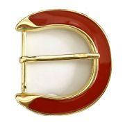 Fivela Dourada com Resina - Cintos Exclusivos - Feminino