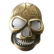 Fivela  em Ouro Velho Caveira - Cintos Exclusivos - Feminino