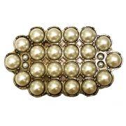 Fivela em Ouro Velho com pérolas - Cintos Exclusivos - Feminino