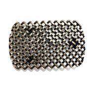Fivela  Simples Prata Velha  - Cintos Exclusivos - Feminino