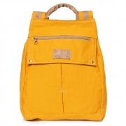 Mochila de Lona Anti Furto Amarelo - Cintos Exclusivos - Feminino