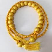 Tendência - Edição Limitada - Cinto Corda Amarelo   - 3 cm -Cintos Exclusivos - Feminino