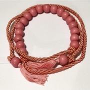Tendência - Edição Limitada - Cinto Corda Coral   - 3 cm -Cintos Exclusivos - Feminino