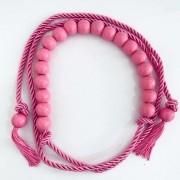 Tendência - Edição Limitada - Cinto Corda Rosa Chiclete   - 3 cm -Cintos Exclusivos - Feminino