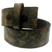 Tira para Cinto de Couro Serpente Cinza - 4cm - Cintos Exclusivos - Feminino