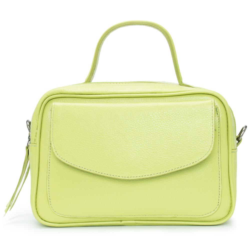 Bolsa Baú de Couro Verde - Cintos Exclusivos - Feminino