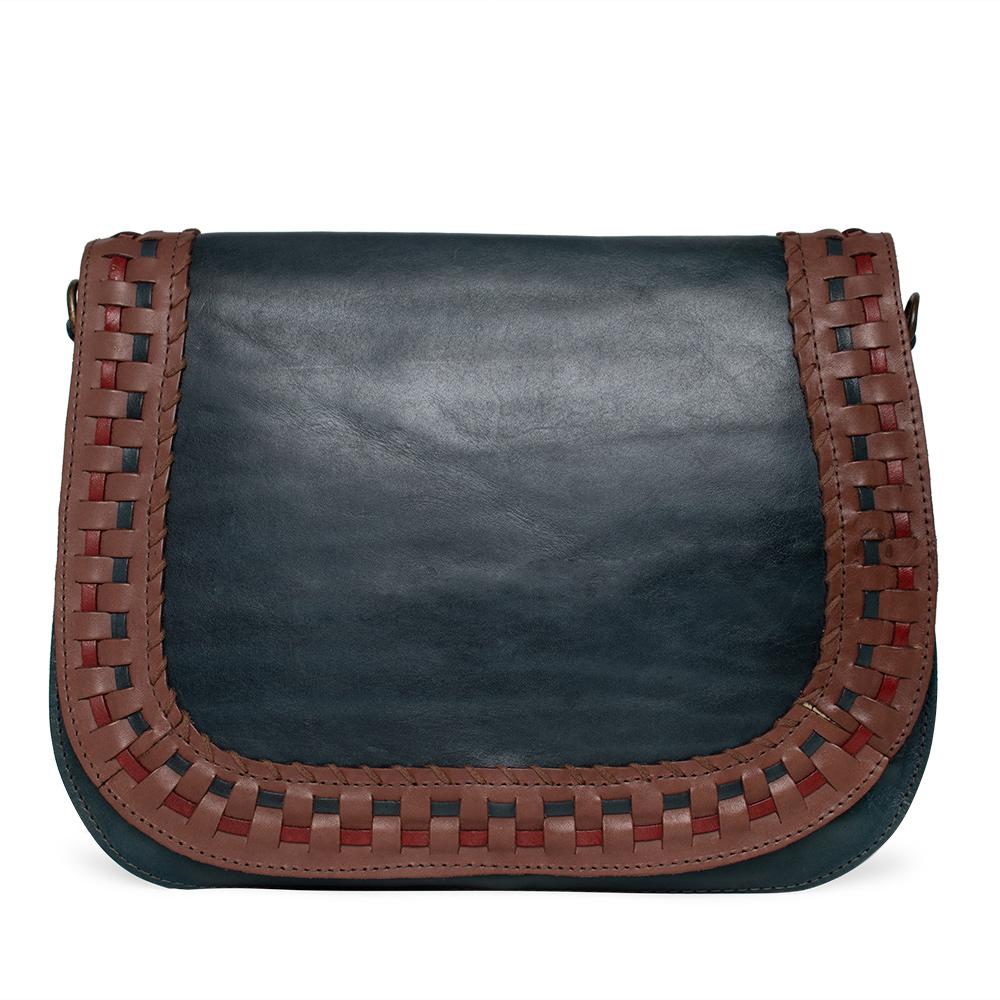 Bolsa de Couro Azul - Cintos Exclusivos - Feminino
