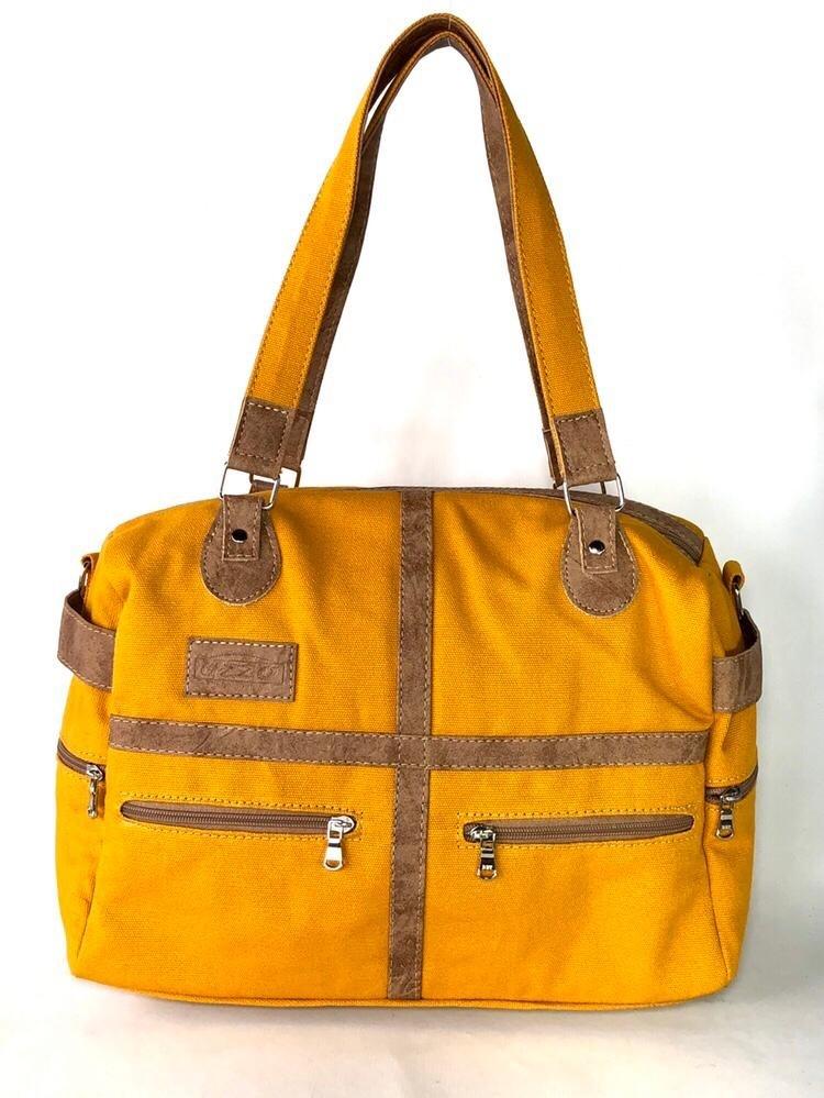 Bolsa de Lona Amarela - Cintos Exclusivos - Feminino