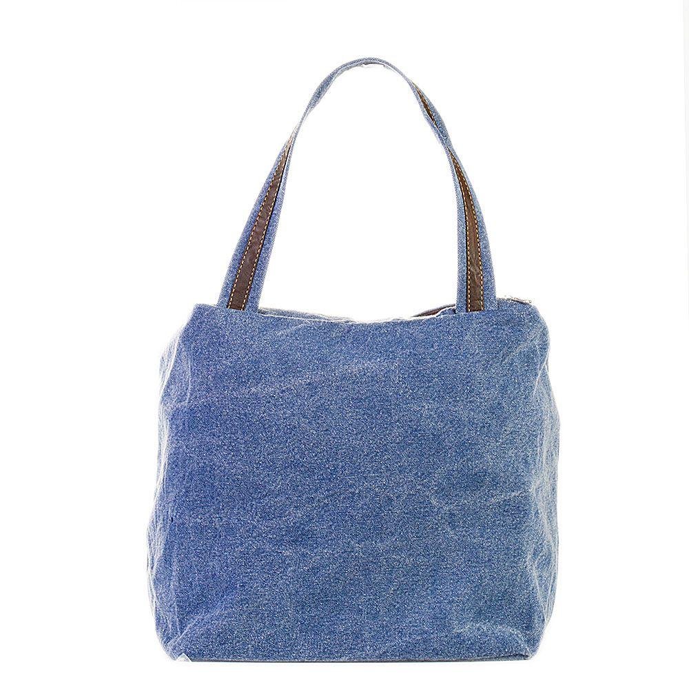 Bolsa de Lona Jeans - Cintos Exclusivos - Feminino