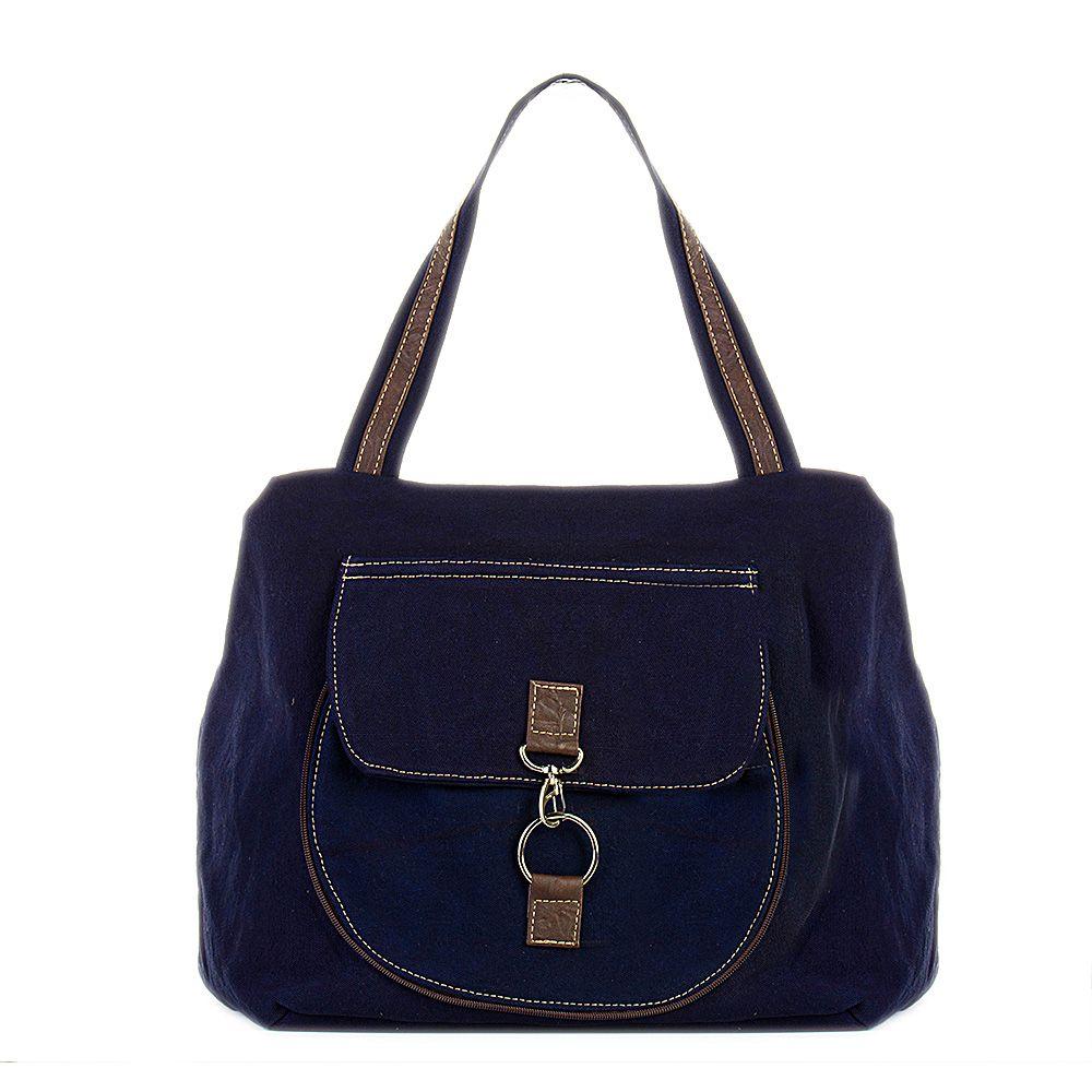 Bolsa de Lona Azul Marinho  - Cintos Exclusivos - Feminino
