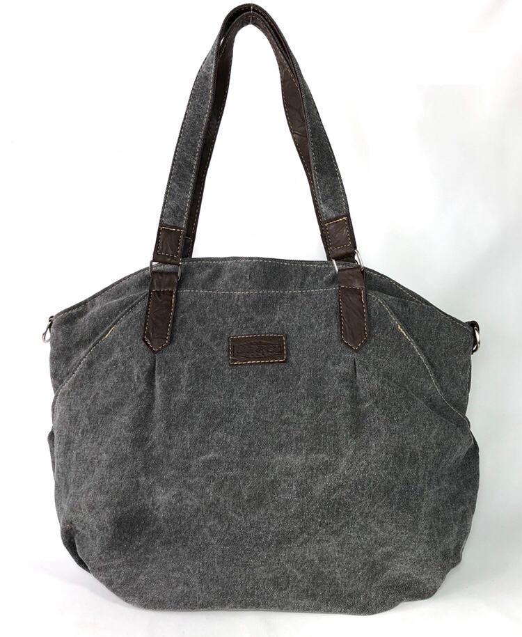 Bolsa de Lona Cinza - Cintos Exclusivos - Feminino