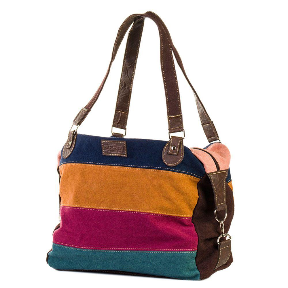Bolsa de Lona Colorida - Cintos Exclusivos - Feminino