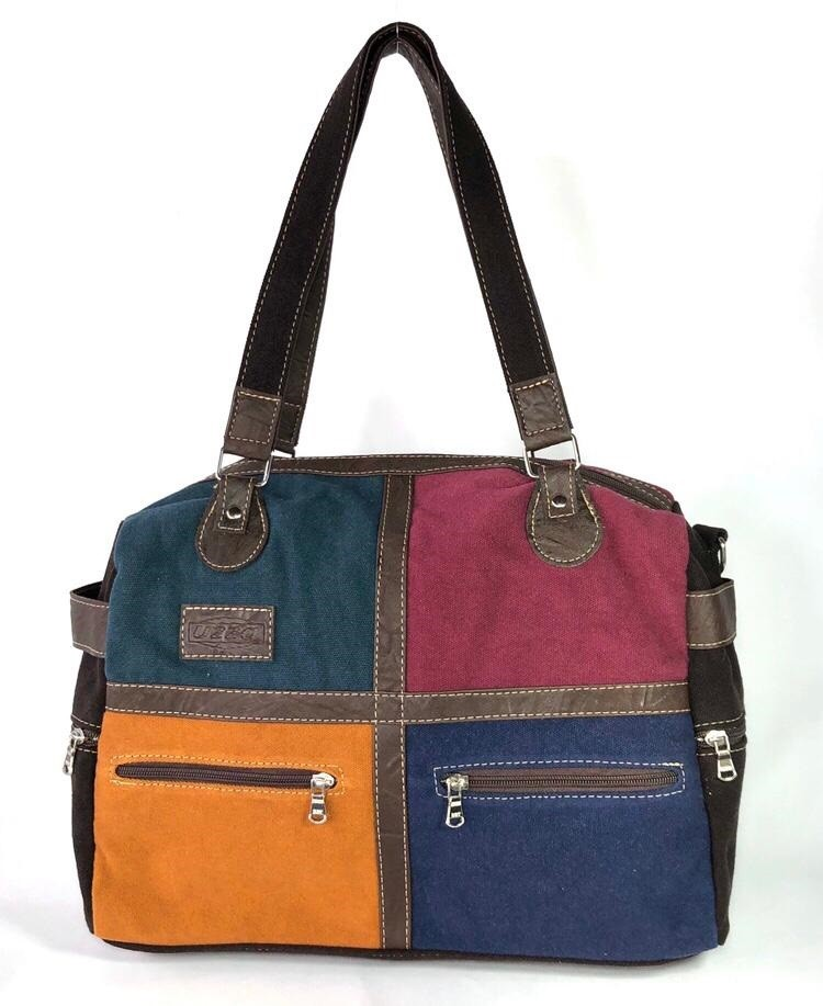 Bolsa de Lona Colorida - Cintos Exclusivos - Feminino