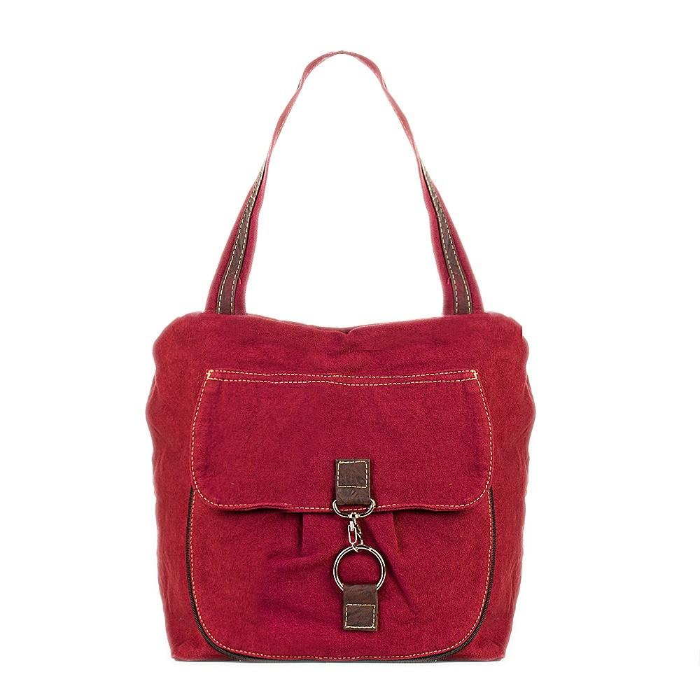 Bolsa de Lona Rosa  - Cintos Exclusivos - Feminino
