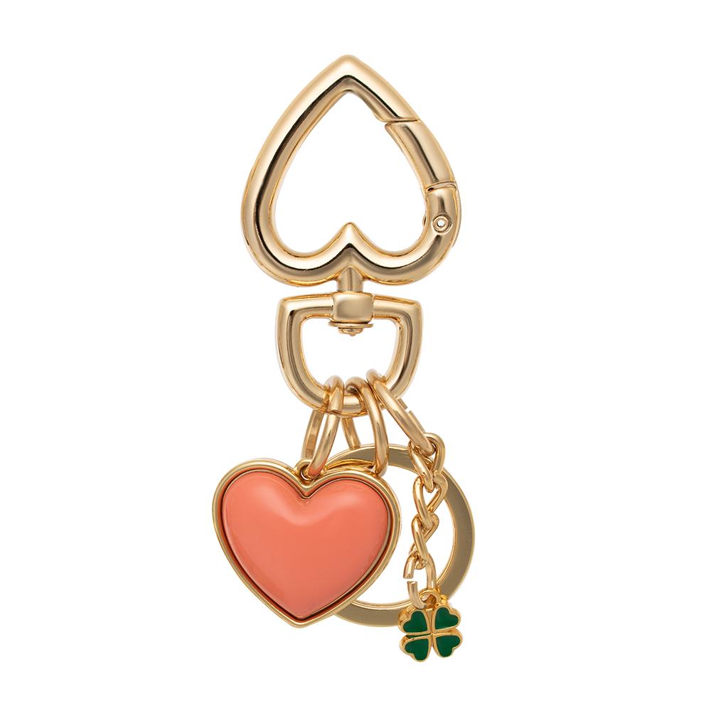 Chaveiro e pingente Proteção coração e trevo   - Feminino