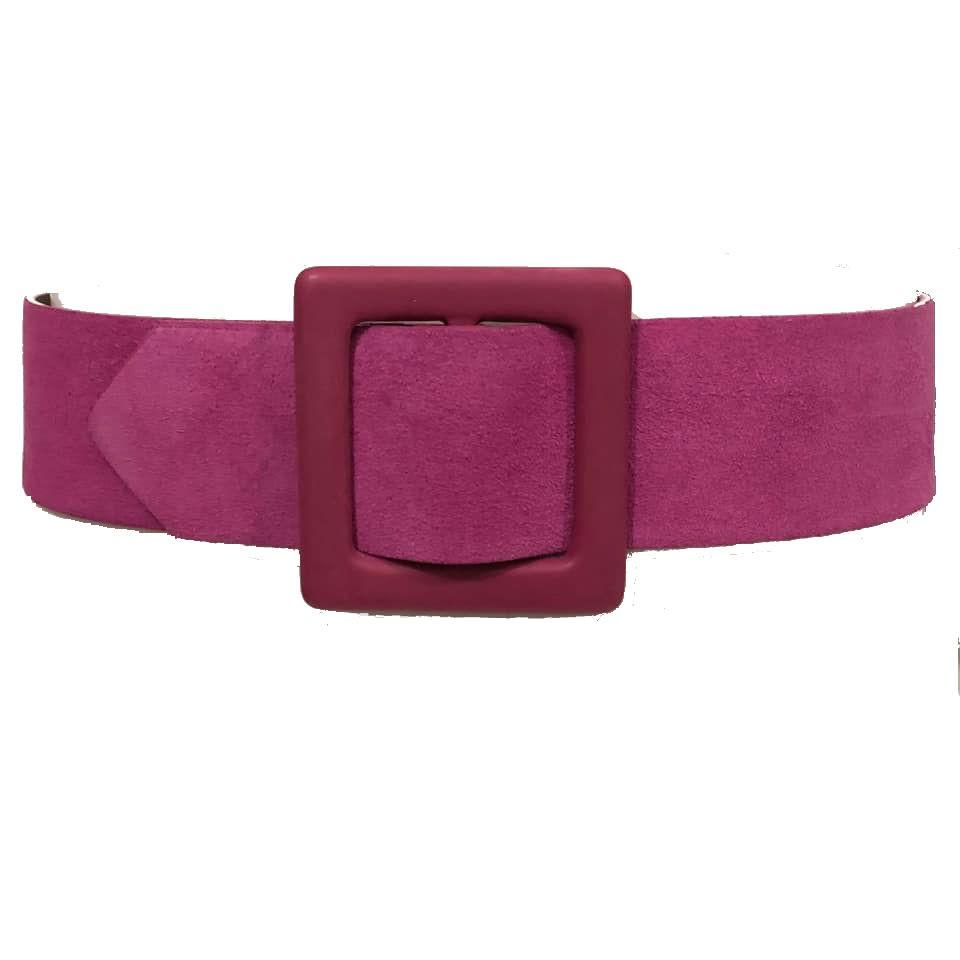 Cinto de Camurça Rosa  - 6,0 cm - Cintos Exclusivos - Feminino