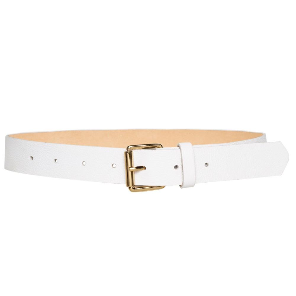 Cinto de Couro Branco - 3cm - Cintos Exclusivos - Feminino