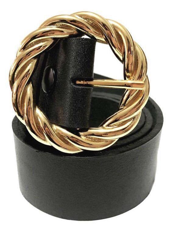 Cinto  de Couro  Preto - 4cm - Cintos Exclusivos VC - Feminino