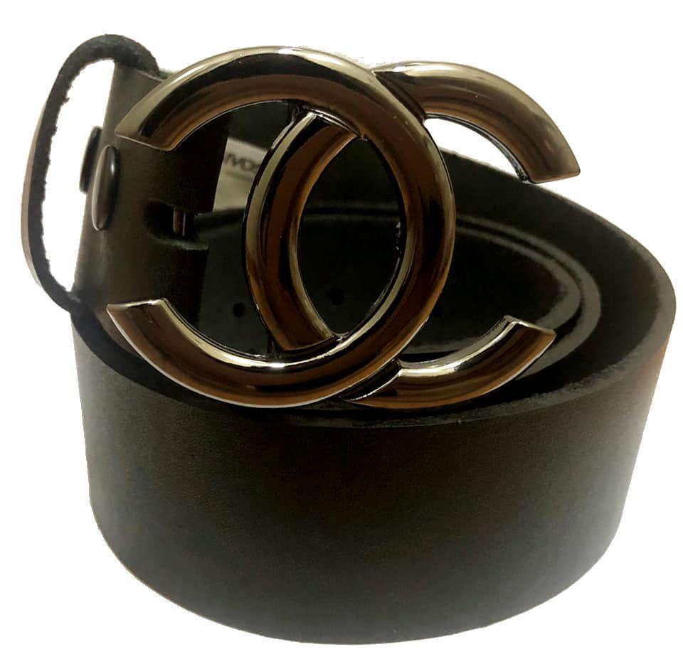 Cinto de Couro Preto com Fivela Inspired ônix - Cintos Exclusivos - Feminino
