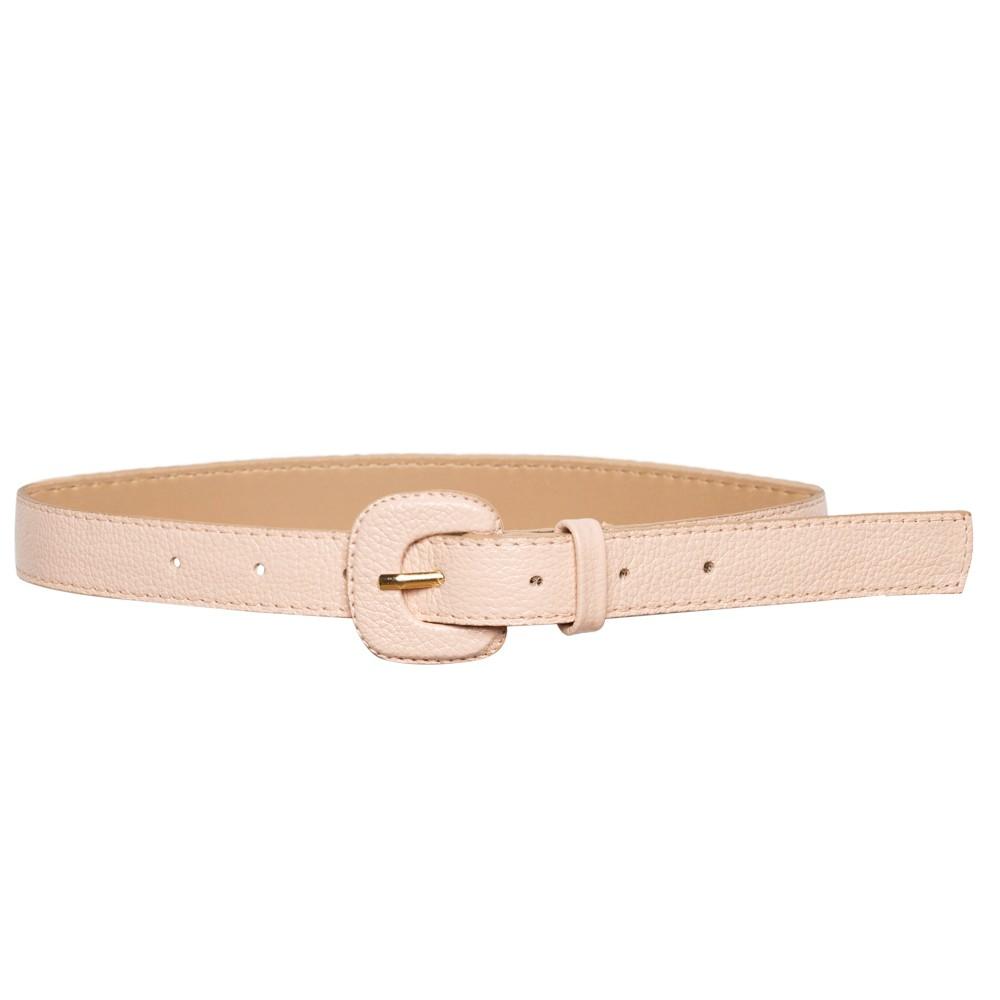 Cinto de Couro Nude  Fino  2,5cm - Cintos Exclusivos - Feminino