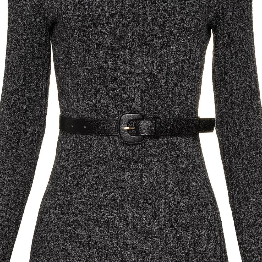 Cinto de Couro Preto Fino - 2,5cm- Cintos Exclusivos - Feminino