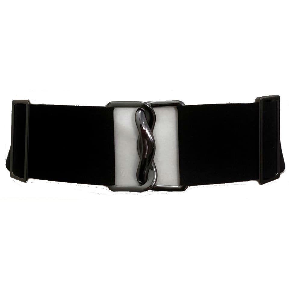Cinto de Elástico Preto Ajustável com Regulagem e Fivela  ônix - Cintos Exclusivos - Feminino