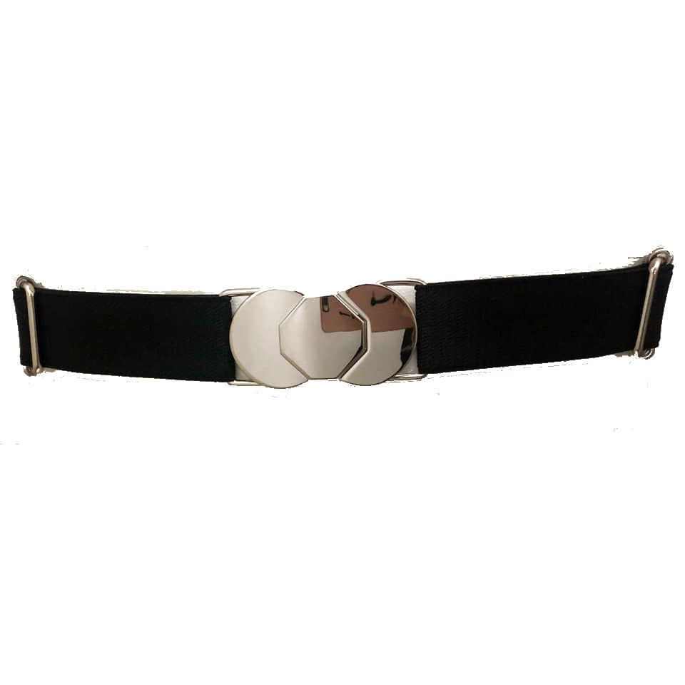 Cinto de Elástico Ajustável com Regulagem e Fivela  níquel  - Cintos Exclusivos - Feminino