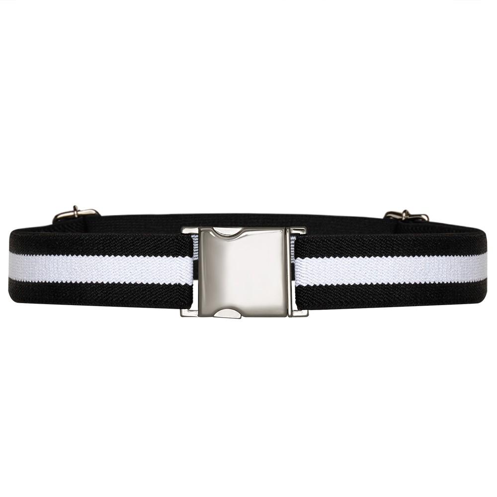 Cinto de Elástico Ajustável  Fino com Regulagem e Fivela Prata  - Cintos Exclusivos - Feminino