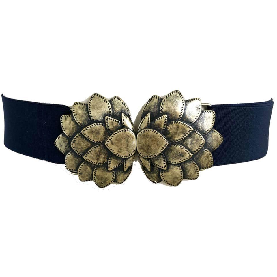 Cinto de Elástico Ajustável com Regulagem e Fivela  Ouro Velho  - Cintos Exclusivos - Feminino