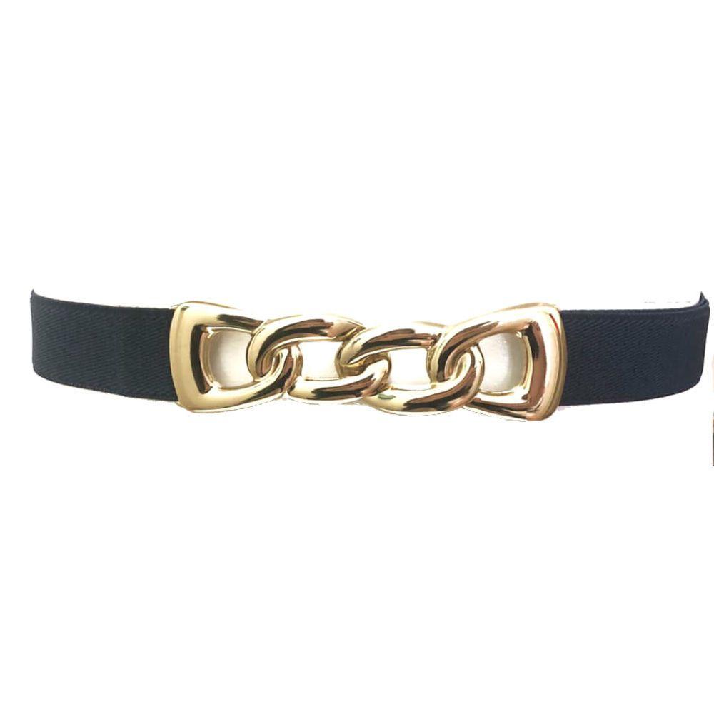 Cinto de  Elástico Azul - Fiv Ouro - Cintos Exclusivos - Feminino