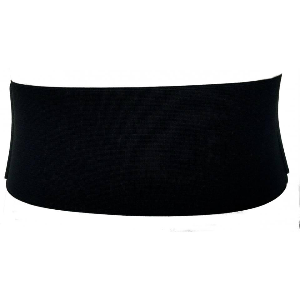 Cinto  Largo de Couro  Corselet Preto  - 12 cm - Cintos Exclusivos VC - Feminino