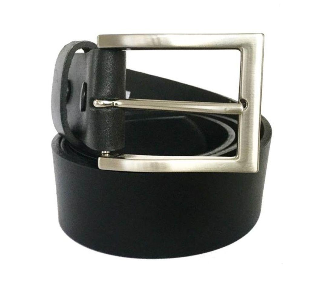 Cinto de Couro  Preto com Fivela  níquel  - 4 cm - Cintos Exclusivos - Feminino