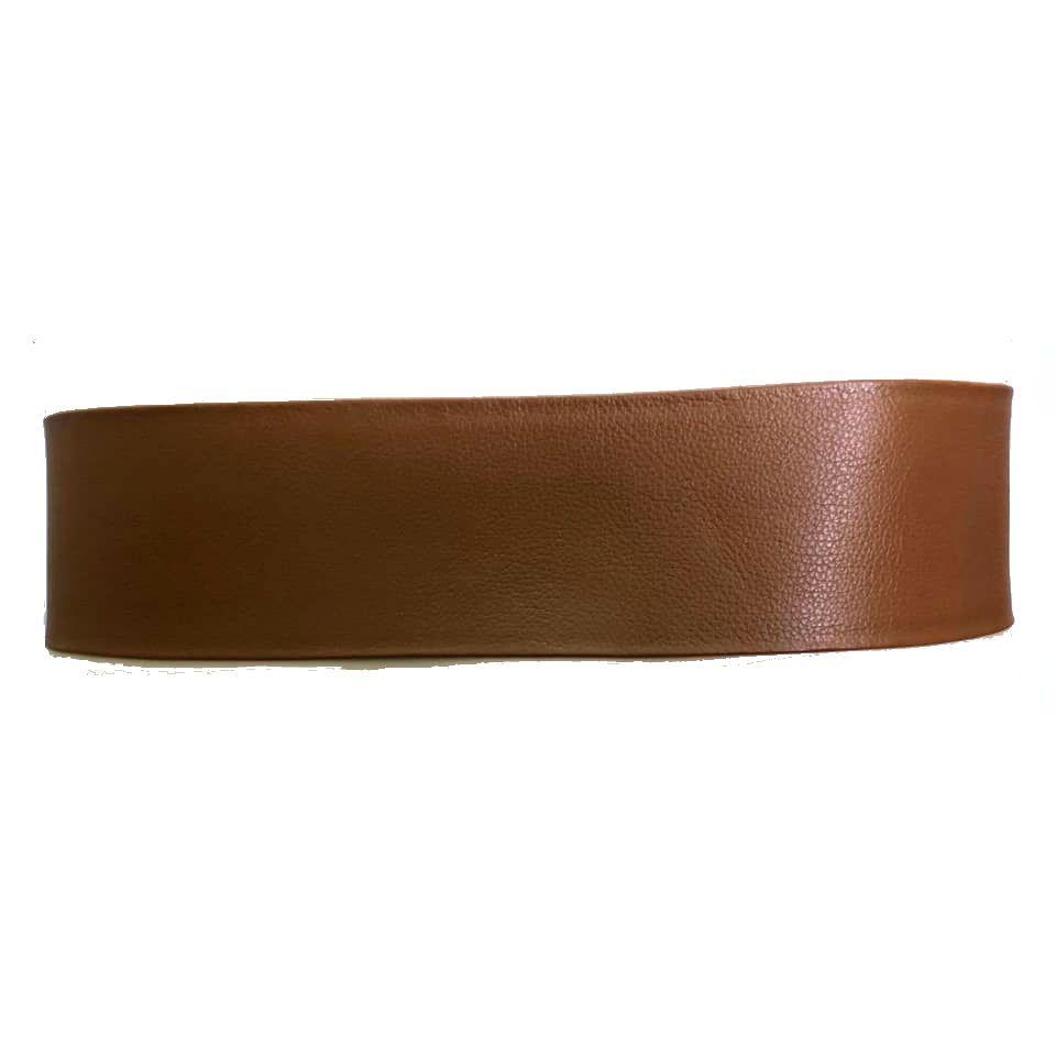 Cinto Faixa de Couro Caramelo - 7 cm -Cintos Exclusivos - Feminino