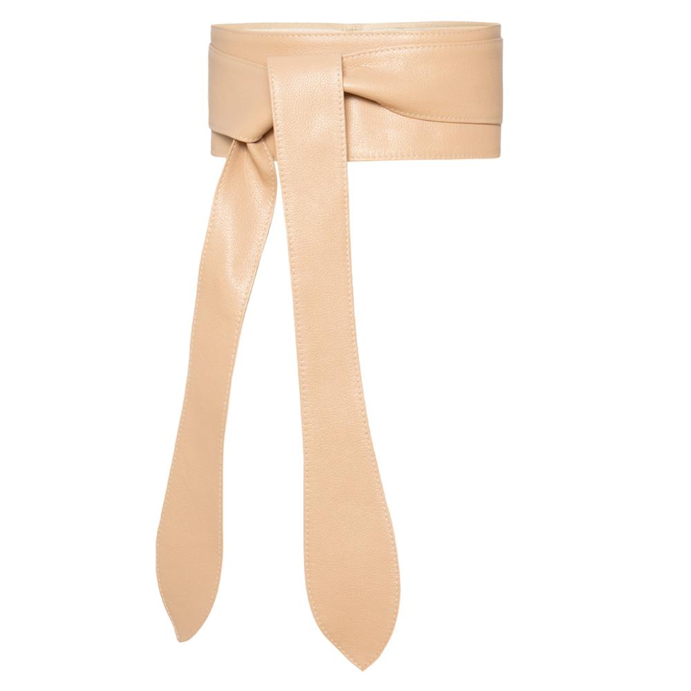 Lançamento - Cinto Faixa  Largo de Couro Nude  -  9 cm - Cintos Exclusivos VC - Feminino