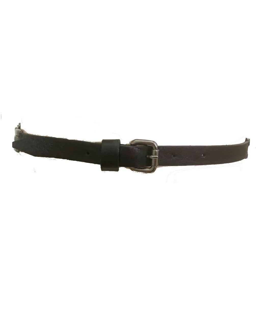 Cinto de Couro  Preto Fino  - 1,5cm - Cintos Exclusivos - Feminino