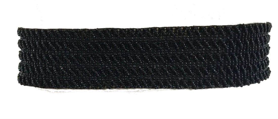Cinto Miçanga Preto Trançado no Elástico  - Cintos Exclusivos - Feminino