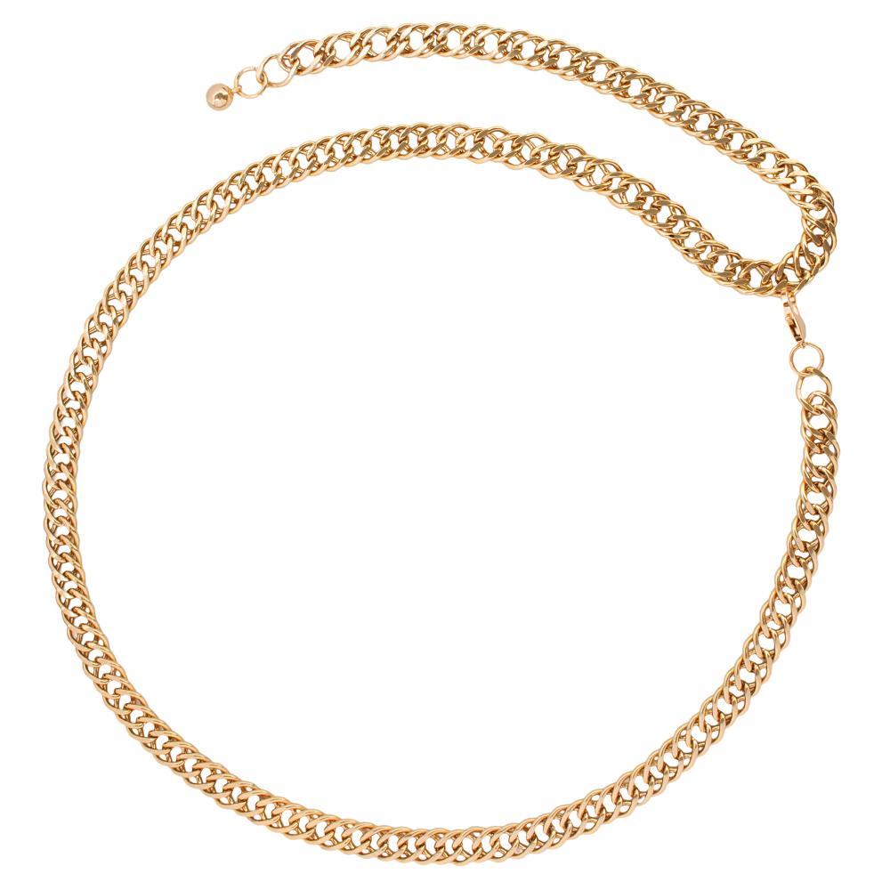 Corrente de Metal Dupla Dourado VC - Linha Premium VC - Feminino