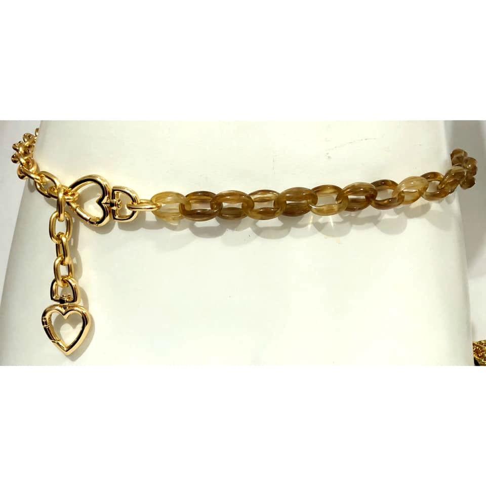 Promoção -  Corrente de Metal Dourado Coração - Cintos Exclusivos - Feminino