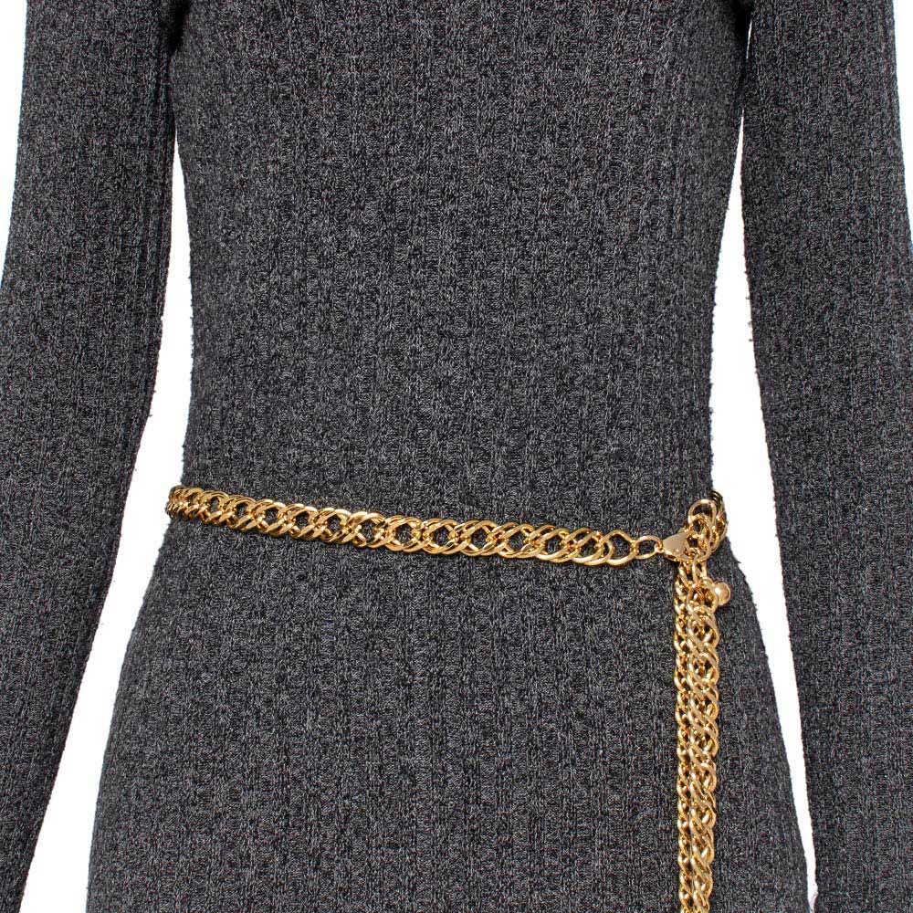 Corrente de Metal Dupla Dourado - Cintos Exclusivos - Feminino