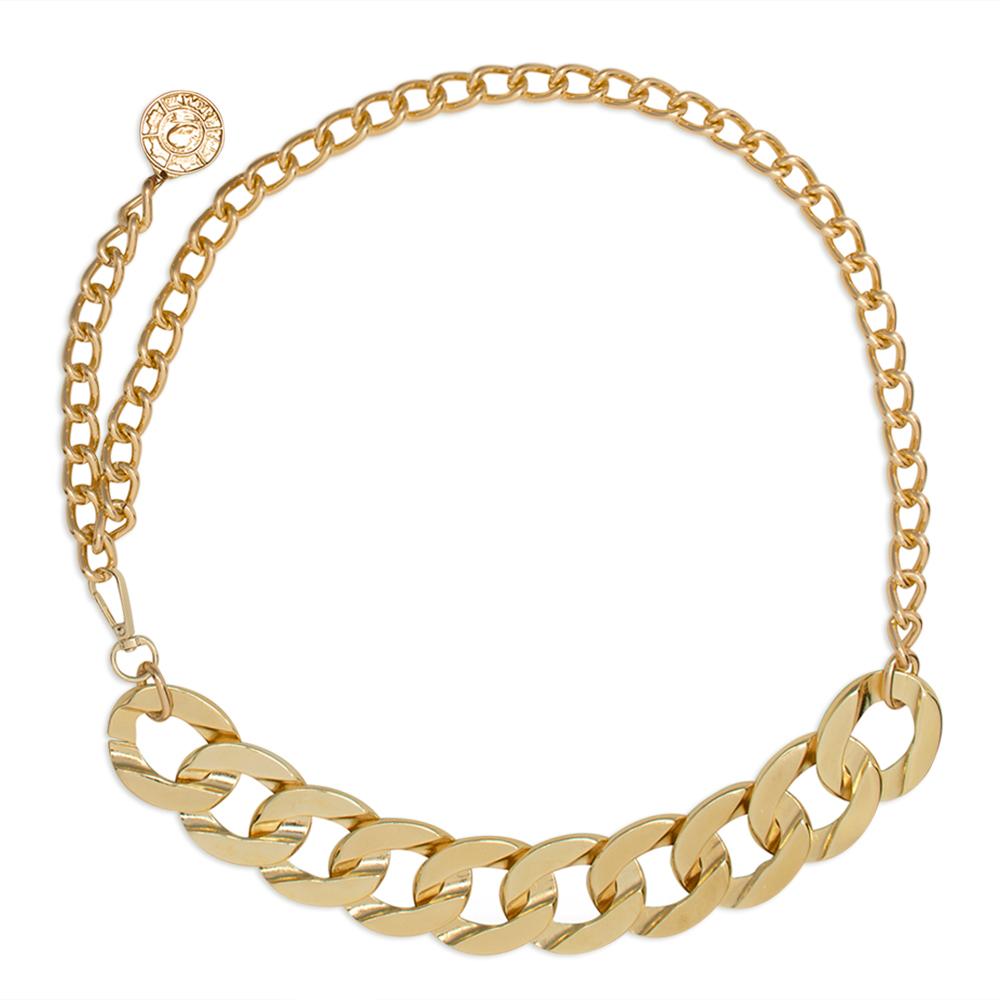 Lançamento - Corrente de Metal Elos Dourados  - Feminino