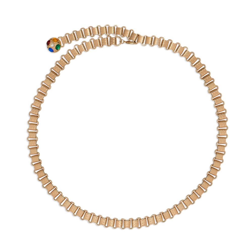 Lançamento - Corrente de Metal Elos no banho Dourado VC - Linha Premium VC - Feminino
