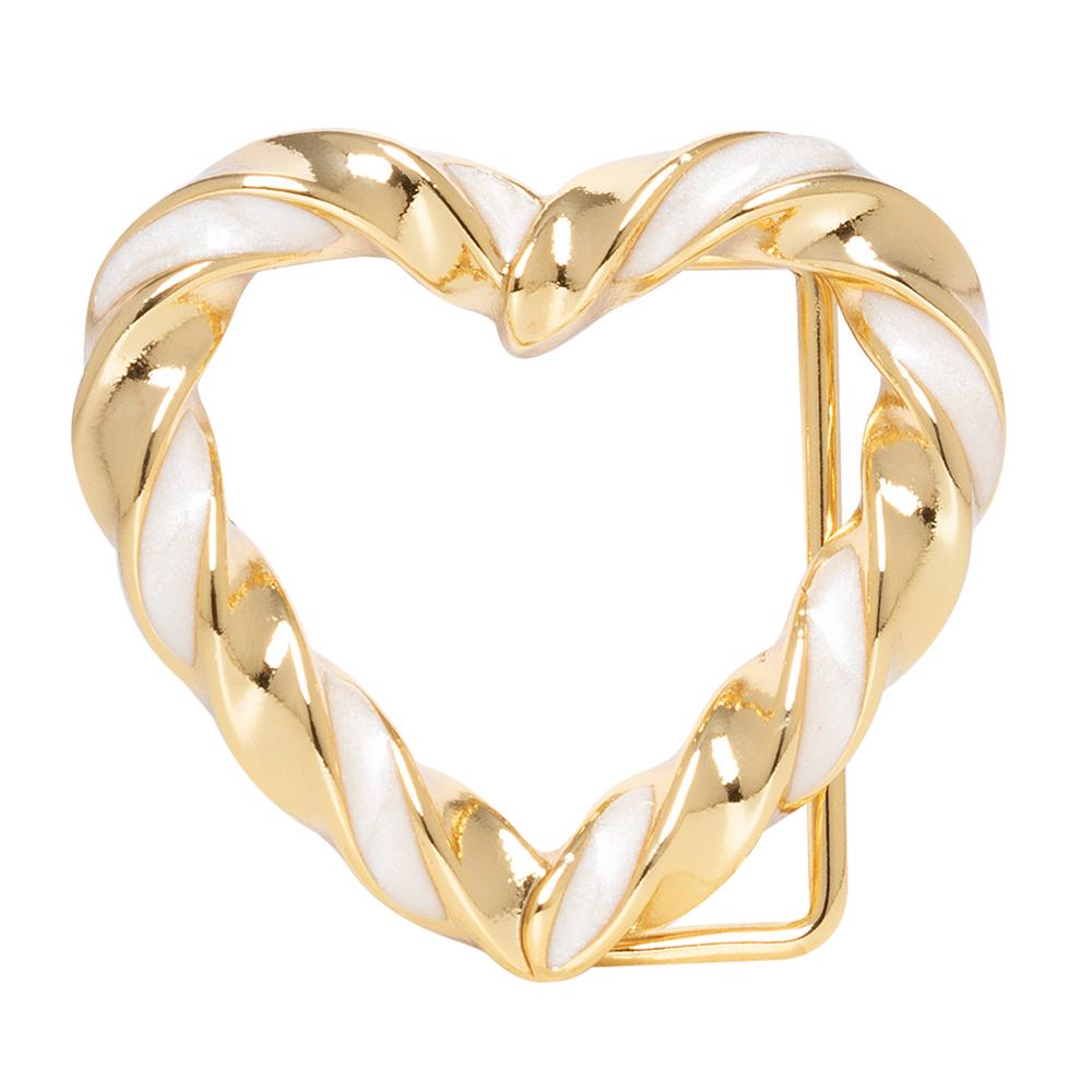 Fivela Coração Dourada - Cintos Exclusivos - Feminino