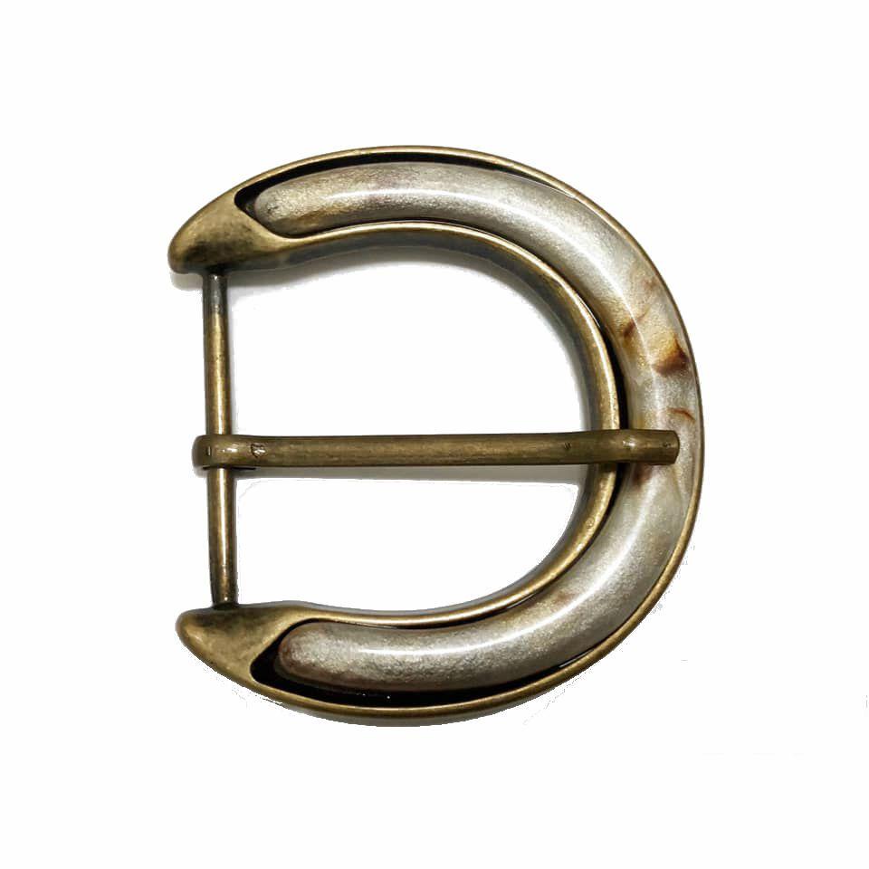 Fivela  em Ouro Velho com Pedra- Cintos Exclusivos - Feminino