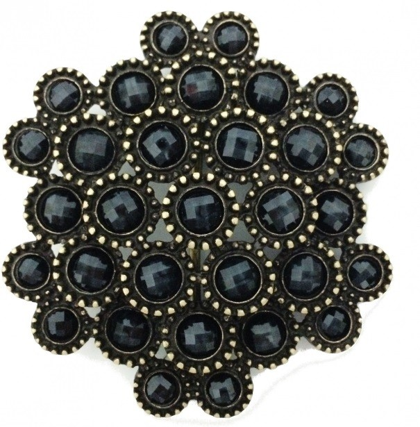 Fivela  em Ouro Velho com Pedras- Cintos Exclusivos - Feminino