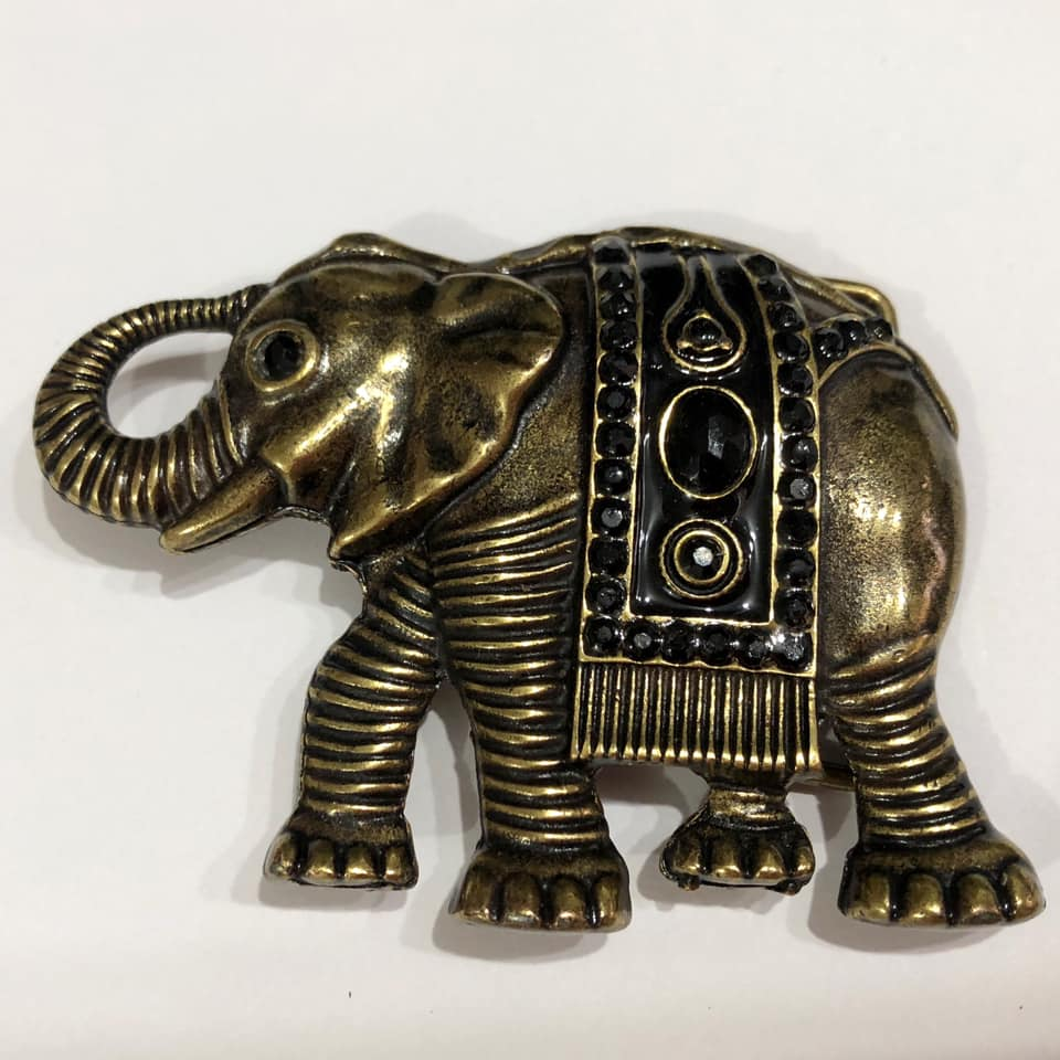 Fivela Simples Ouro Velho Elefante - Cintos Exclusivos - Feminino