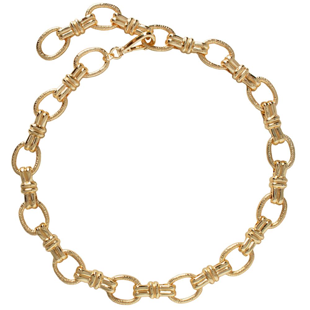 Lançamento - Corrente Dourada Elos  Dourado -  Linha Premium VC - Feminino