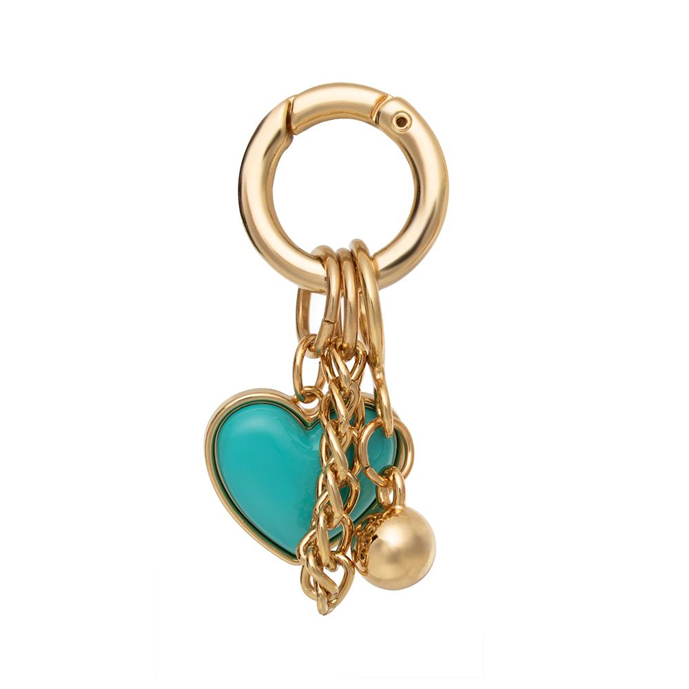 Pingente Proteção Coração Azul   - Feminino